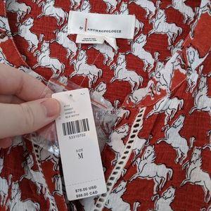 Anthropologie Tops - Anthropologie Horse Print Dolman Sleeve Top